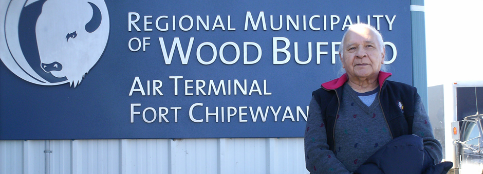 Larry Loyie, Young Alberta Book Society tour, N. Alberta, April 2012 - Fort Chipewyan...