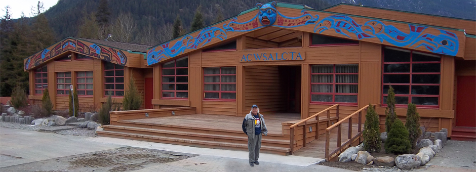 This is Acwsalcta School in Bella Coola. Such a great school teaching pride in Nuxalk culture....