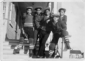 Larry with other residential school students